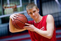 Luka Rupnik at practice of KK Slovan basketball team, on February 3, 2010 in Arena Kodeljevo, Ljubljana, Slovenia.  (Photo by Vid Ponikvar / Sportida)