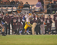 Oxford High's Ethan Holmes (12) returns a kickoff vs. Picayune in the MHSAA Class 5A championship game at Mississippi Veterans Memorial Stadium in Jackson, Miss. on Saturday, December 7, 2013. Picayune rallied to win 42-35.
