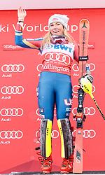 26.11.2017, Killington, USA, FIS Weltcup Ski Alpin, Killington, Slalom, Damen, Siegerehrung, im Bild Mikaela Shiffrin (USA, 1. Platz) // winner Mikaela Shiffrin of the USA during the winner Ceremony for the ladie's Slalom of FIS Ski Alpine World Cup IN Killington, United Staates on 2017/11/26. EXPA Pictures © 2017, PhotoCredit: EXPA/ Johann Groder