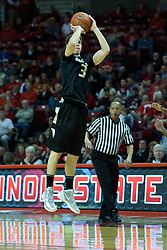 18 February 2012:  Travis Bader during an ESPN Bracketbuster mens basketball game Where the Oakland Golden Grizzlies lost to the Illinois State Redbirds 79-75 in Redbird Arena, Normal IL