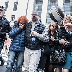 Foto Piero Cruciatti / LaPresse<br /> 9-04-2015 Milano, Italia<br /> Cronaca<br /> La moglie del giudice Fernando Ciampi<br /> <br /> <br /> Photo Piero Cruciatti / LaPresse<br /> 9-04-2015 Milan, Italy<br /> News<br /> Wife of murdered Fernando Ciampi