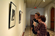 Jameson Lintelman and his mother Margaret O'Reilly spent their day at the Kennedy Museum of Art at Ohio University enjoying the Improvisations: Jazz Photographs by Herman Leonard exhibition.