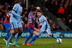 David Silva of Manchester City in action - Photo mandatory by-line: Rogan Thomson/JMP - 07966 386802 - 06/04/2015 - SPORT - FOOTBALL - London, England - Selhurst Park - Crystal Palace v Manchester City - Barclays Premier League.