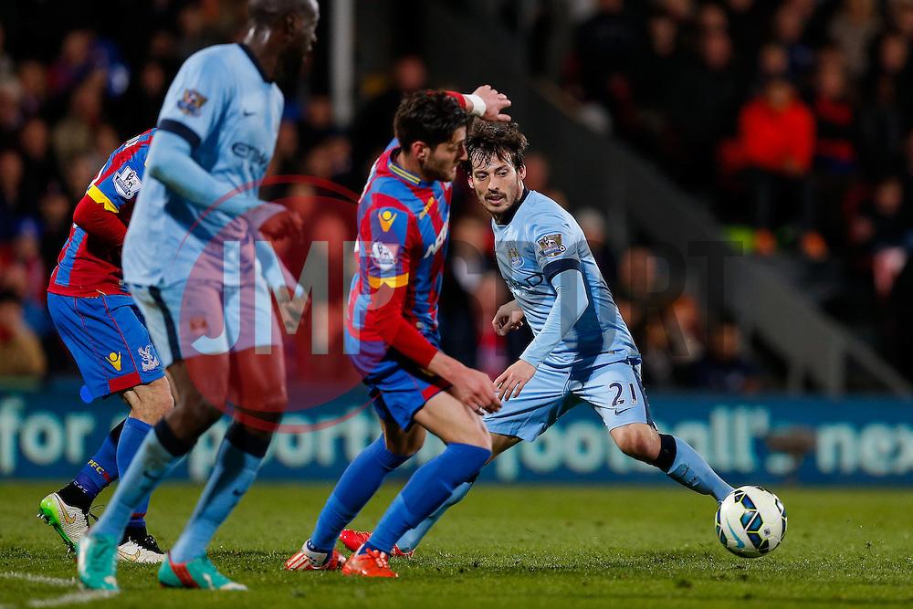 David Silva of Manchester City in action - Photo mandatory by-line: Rogan Thomson/JMP - 07966 386802 - 06/04/2015 - SPORT - FOOTBALL - London, England - Selhurst Park - Crystal Palace v Manchester City - Barclays Premier League.