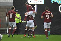 Northmpton Town Celebrate their First Goal by Sam Hoskins, Northampton Town v Barnet FC, Sixfields Stadium, Sky Bet League Two, Saturday 2nd January 2016, Score 3-0 (Hoskins,Holmes, Richards)