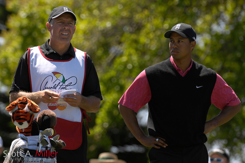 Tiger Woods and his caddie Steve Williams in action during final round of the Arnold Palmer Invitational at Bay Hill Club and Lodge  on March 18, 2007 in Orlando, Florida...© 2007 Scott A. Miller