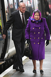 The Queen arrives at Kings Lynn Railway Station to begin her Christmas holidays on the Sandringham Estate, in Norfolk, UK, on the 21st December 2017. 21 Dec 2017 Pictured: The Queen arrives at Kings Lynn Railway Station to begin her Christmas holidays on the Sandringham Estate, in Norfolk, UK, on the 21st December 2017. Picture by James Whatling. Photo credit: James Whatling / MEGA TheMegaAgency.com +1 888 505 6342