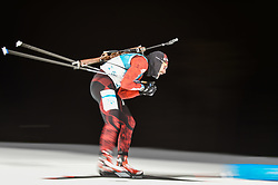February 11, 2018 - Pyeongchang, Gangwon, South Korea - Simon Eder of Austria at Mens 10 kilometre sprint Biathlon at olympics at Alpensia biathlon stadium, Pyeongchang, South Korea on February 11, 2018. (Credit Image: © Ulrik Pedersen/NurPhoto via ZUMA Press)