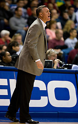 February 27, 2010; San Jose, CA, USA;  Fresno State Bulldogs head coach Steve Cleveland during the first half against the San Jose State Spartans at The Event Center.  San Jose State defeated Fresno State 72-45.