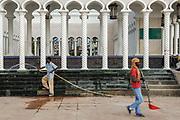 Maintenance at the Omar Ali Saifuddien Mosque, Bandar Seri Begawan, Brunei.