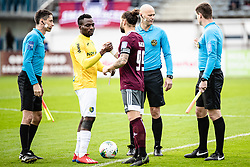 Ovbokha Agboyi of NK Bravo and Luka Majcen of NK Triglav during football match between NK Triglav Kranj and NK Bravo in 17th Round of Prva liga Telekom Slovenije 2019/20, on November 10, 2019 in Sport Park Kranj, Kranj, Slovenia. Photo Grega Valancic / Sportida
