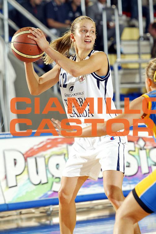 DESCRIZIONE : Taranto Lega A1 Femminile 2005-06 Terra Sarda Alghero Stem Marine Parma <br /> GIOCATORE : Dimitrova <br /> SQUADRA : Terra Sarda Alghero <br /> EVENTO : Campionato Lega A1 Femminile  2005-2006 <br /> GARA : Terra Sarda Alghero Stem Marine Parma <br /> DATA : 02/10/2005 <br /> CATEGORIA : <br /> SPORT : Pallacanestro <br /> AUTORE : Agenzia Ciamillo-Castoria