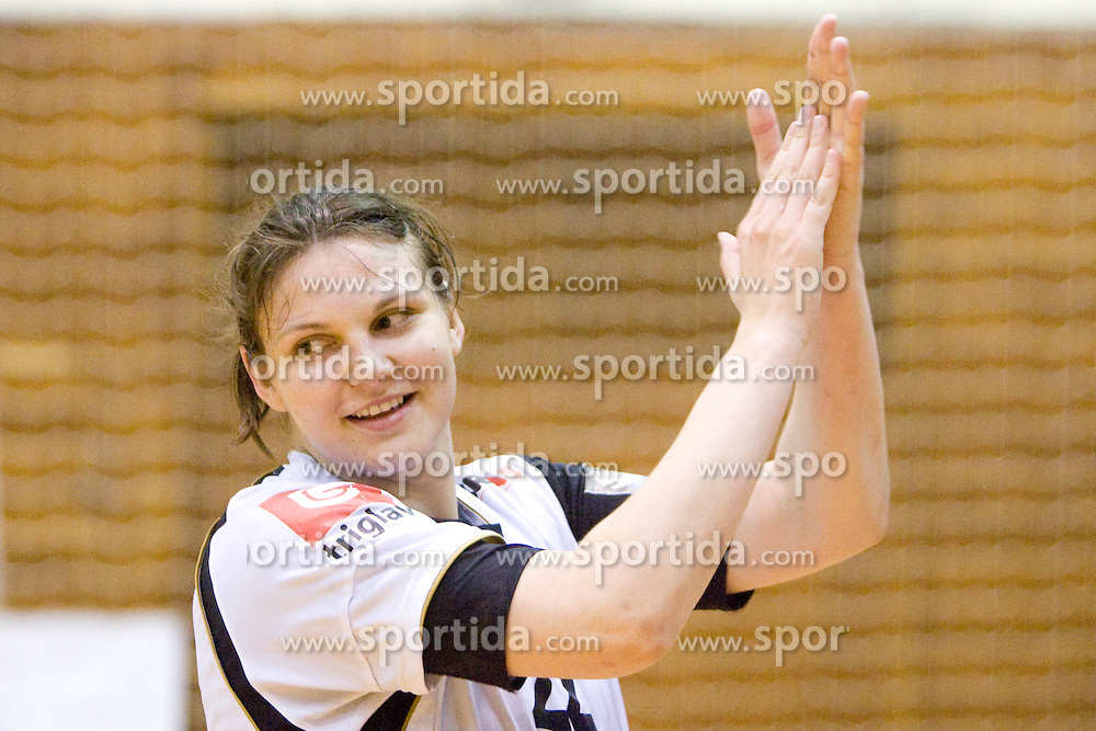 Cvijic Dragana of Krim at last 10th Round handball match of Slovenian Women National Championships between RK Krim Mercator and RK Olimpija, on May 15, 2010, in Galjevica, Ljubljana, Slovenia. Olimpija defeated Krim 39-36, but Krim became Slovenian National Champion. (Photo by Vid Ponikvar / Sportida)