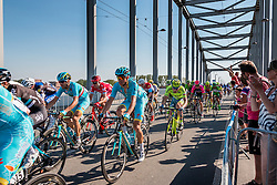 Peloton with NIBALI Vincenzo from Italy of Astana Pro Team (KAZ) at the final lap (1000M) from the finish line on the John Frost Bridge 'A Bridge Too Far', stage 3 from Nijmegen to Arnhem running 190 km of the 99th Giro d'Italia (UCI WorldTour), The Netherlands, 8 May 2016. Photo by Pim Nijland / PelotonPhotos.com | All photos usage must carry mandatory copyright credit (Peloton Photos | Pim Nijland)
