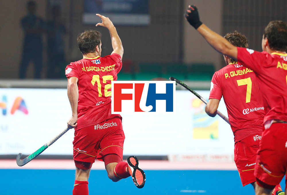 Odisha Men's Hockey World League Final Bhubaneswar 2017<br /> Match id:15<br /> Spain v Australia<br /> Foto: Marc Garcia (Esp) scored a goal<br /> COPYRIGHT WORLDSPORTPICS KOEN SUYK