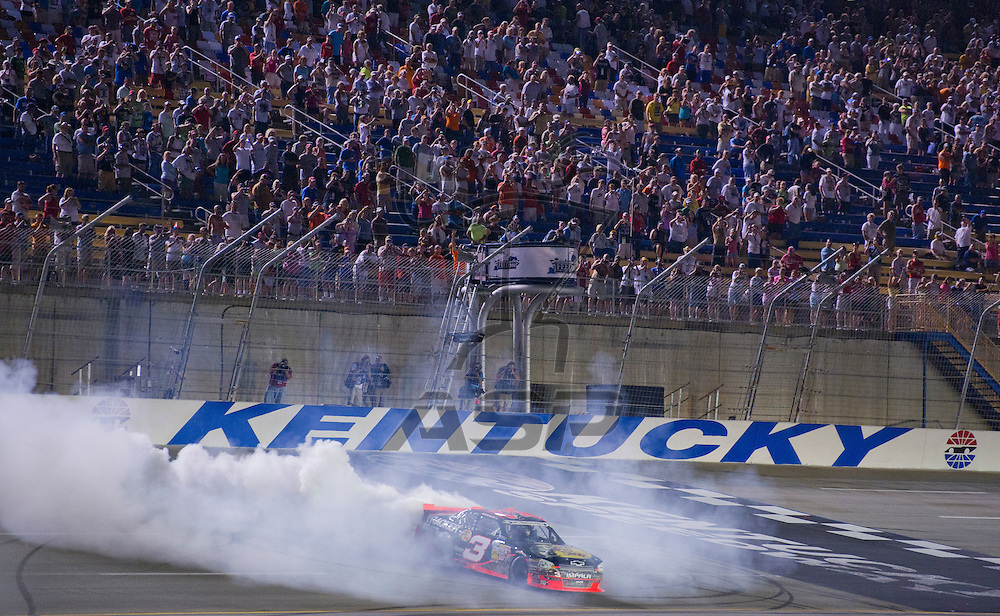 Sparta, KY - JUN 29, 2012:  Austin Dillon (3) wins Feed the Children 300 at the Kentucky Speedway in Sparta, KY.