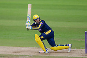Liam Dawson of Hampshire batting during the Royal London One Day Cup match between Hampshire County Cricket Club and Somerset County Cricket Club at the Ageas Bowl, Southampton, United Kingdom on 2 August 2016. Photo by David Vokes.