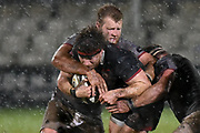 Hamish Watson under pressure during the Guinness Pro 14 2017_18 match between Edinburgh Rugby and Southern Kings at Myreside Stadium, Edinburgh, Scotland on 5 January 2018. Photo by Kevin Murray.