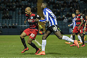 Karl Henry (QPR) and Lucas Joao (Sheffield Wednesday) during the Sky Bet Championship match between Sheffield Wednesday and Queens Park Rangers at Hillsborough, Sheffield, England on 23 February 2016. Photo by Mark P Doherty.