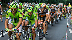 Rhenen, The Netherlands - Dutch Food Valley Classic (UCI 1.1) - 23th August 2013 - Cannondale with Elia VIVIANI in pursuit of the leaders