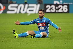 January 26, 2019 - Milan, Milan, Italy - Dries Mertens #14 of SSC Napoli during the serie A match between AC Milan and SSC Napoli at Stadio Giuseppe Meazza on January 26, 2018 in Milan, Italy. (Credit Image: © Giuseppe Cottini/NurPhoto via ZUMA Press)