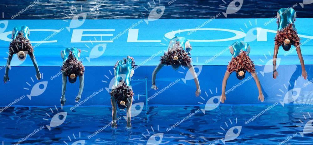 Open Ceremony - Cerimonia d'apertura <br /> Barcellona 19/7/2013 Palau Sant Jordi <br /> Barcelona 2013 15 Fina World Championships Aquatics <br /> Foto Andrea Staccioli Insidefoto