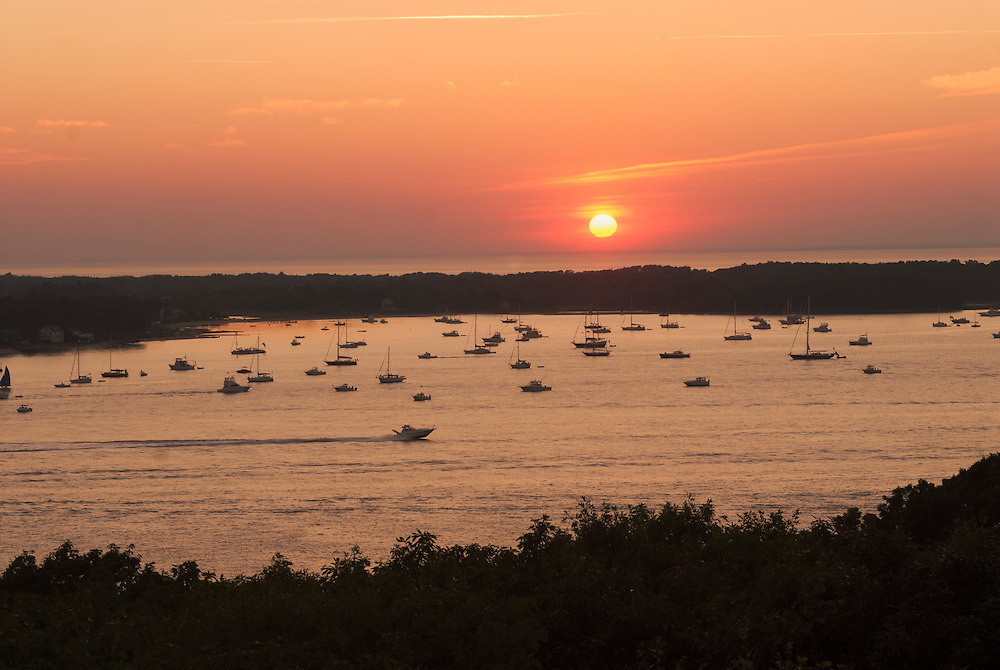 Southold Bay From Shelter Island, Long Island, New York, July 4th, Long Island Sound in Distance