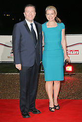 © Licensed to London News Pictures. 11/12/2013, UK. <br /> <br /> Ricky Gervais, attends A Night Of Heroes: The Sun Military Awards, National Maritime Museum, London UK, 11 December 2013. Photo credit : Richard Goldschmidt/Piqtured/LNP