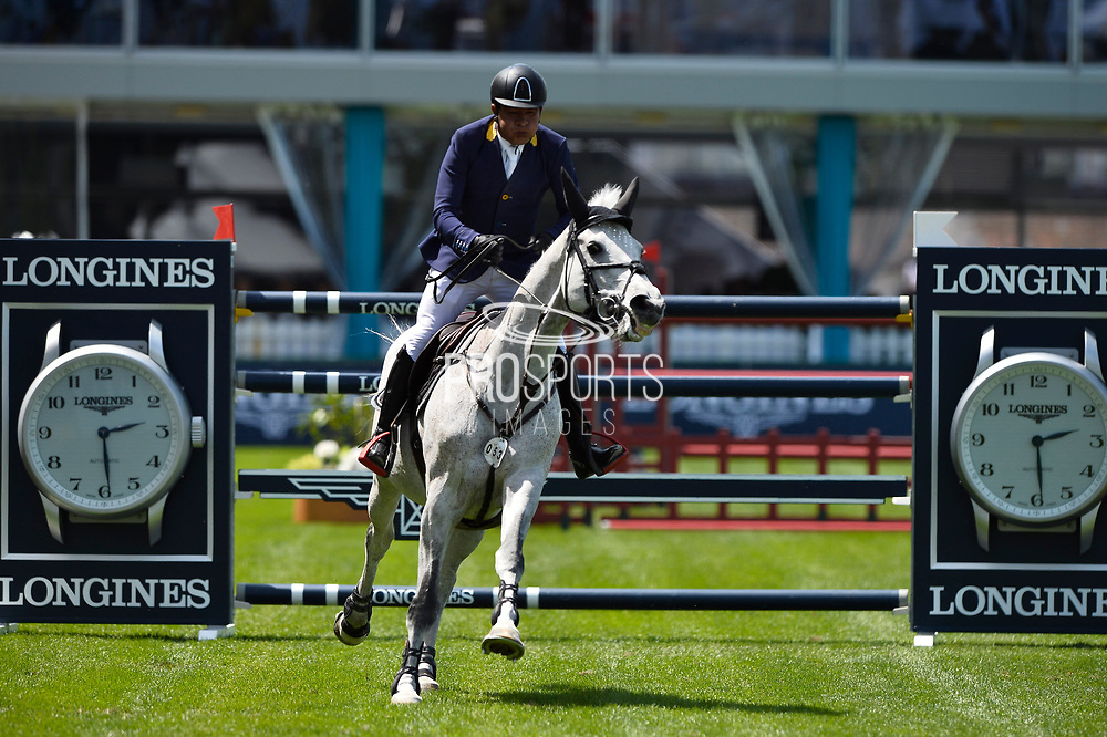Rene LOPEZ (COL) riding CON DIOS III during the International Show Jumping of La Baule 2018 (Jumping International de la Baule), on May 18, 2018 in La Baule, France - Photo Christophe Bricot / ProSportsImages / DPPI