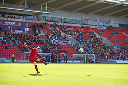 LLANELLI, WALES - Saturday, August 31, 2013: France's goalkeeper Solene Durand in action against England during the Final of the UEFA Women's Under-19 Championship Wales 2013 tournament at Parc y Scarlets. (Pic by David Rawcliffe/Propaganda)