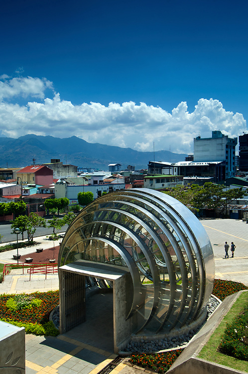 Costa Rica, San Jose, National Museum, Stainless Steel And Glass Spherical Structure, Democracy Square