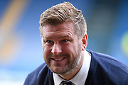 Smiling Oxford United manager Karl Robinson during the EFL Sky Bet League 1 match between Oxford United and Shrewsbury Town at the Kassam Stadium, Oxford, England on 7 December 2019.