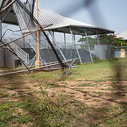 Guayama, Puerto Rico - July 6, 2018: Damaged baseball fields have gone untouched since Hurricane Maria 10 months ago. The 12 and Under selection from Guayama which will compete in Little League World Series.<br /> (Angel Valentin for ESPN)