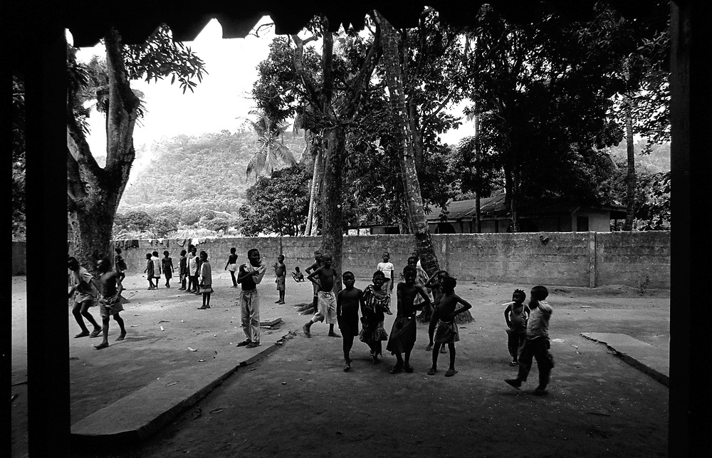 St. Michaels, Lakka, Sierra Leone. April 1999..Lakka was once a holiday resort for upper class French tourists and now serves as a rehabilitation centre for boy soldiers of the civil war in Sierra Leone.