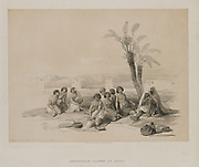 Abyssinian Slaves Resting at Korti (Kurti) Sudan Nubia from Egypt and Nubia, Volume I: Abyssinian Slaves Resting at Korti-Nubia, 1847. Louis Haghe (British, 1806-1885), F.G.Moon, 20 Threadneedle Street, London, after David Roberts (British, 1796-1864). Color lithograph;