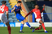 GOAL Ian Henderson shoots and scores 1-0 during the EFL Sky Bet League 1 match between Rochdale and Charlton Athletic at Spotland, Rochdale, England on 27 October 2018.