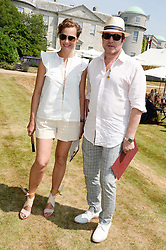 SIMON & YASMIN LE BON at the Cartier 'Style et Luxe' part of the Goodwood Festival of Speed, Goodwood House, West Sussex on 14th July 2013.