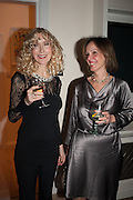BASIA BRIGGS; LADY MONSON, Drinks party given by Basia and Richard Briggs,  Chelsea. London. SW3. 13 February 2014.