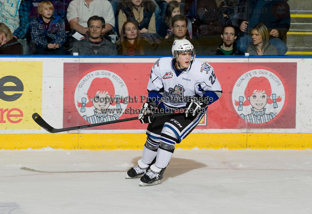 KELOWNA, CANADA, DECEMBER 2: Robin Soudek #25 of the Victoria Royals skates on the ice as the Victoria Royals visit the Kelowna Rockets  on December 2, 2011 at Prospera Place in Kelowna, British Columbia, Canada (Photo by Marissa Baecker/Shoot the Breeze) *** Local Caption ***