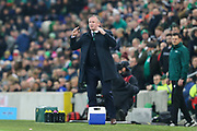 Northern Ireland manager Michael O'Neill during the UEFA European 2020 Qualifier match between Northern Ireland and Netherlands at National Football Stadium, Windsor Park, Northern Ireland on 16 November 2019.
