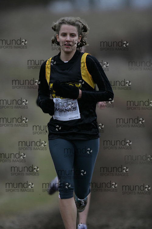 (Guelph, Ontario---28 November 2009) Caroline Mcinnes of Halifax Tigers runs in the Senior Women's at the 2009 AGSI Cross Country Championships in Guelph, Ontario, November 28, 2009..Sean Burges/ Mundo Sport Images, 2009