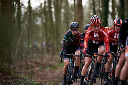 Alexis Ryan (USA) at Ronde van Drenthe 2019, a 165.7 km road race from Zuidwolde to Hoogeveen, Netherlands on March 17, 2019. Photo by Sean Robinson/velofocus.com