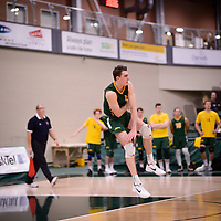 2nd year Right-Side hitter Matthew Aubrey (7) of the Regina Cougars in action during Men's Volleyball home game on November 3 at Centre for Kinesiology, Health and Sport. Credit: Arthur Ward/Arthur Images