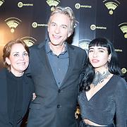 NLD/Hilversum/20180125 - Gouden RadioRing Gala 2017, Adam Curry met zijn zus Tiffany en dochter Christina