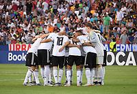 FUSSBALL UEFA U21-EUROPAMEISTERSCHAFT FINALE 2019  in Italien  Spanien - Deutschland   30.06.2019 TEAMKREIS Deutschland vor dem Spiel