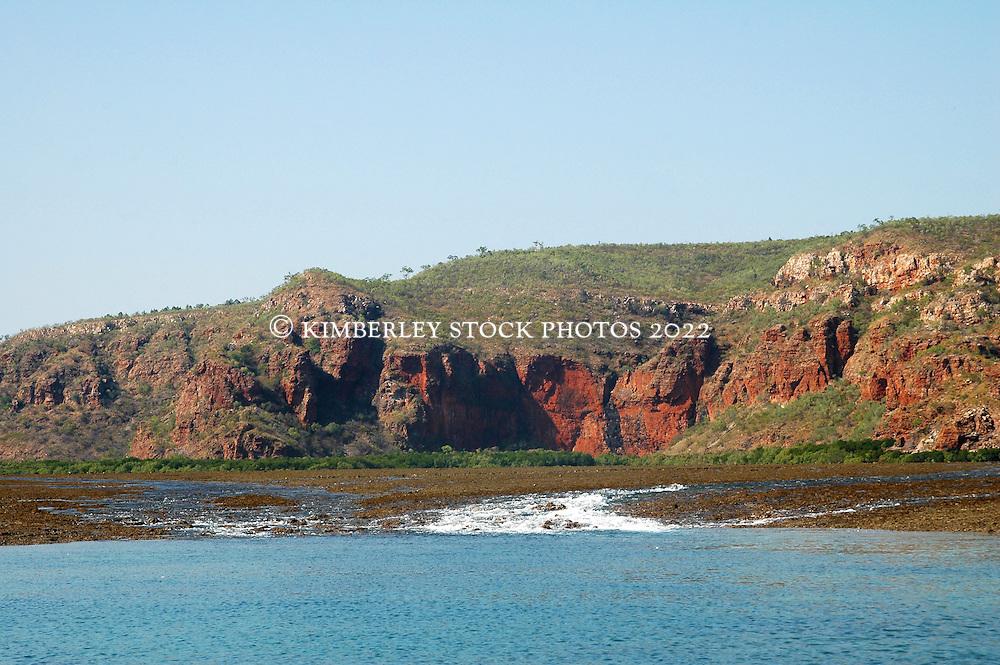 Turtle Reef in Talbot Bay on a falling tide.