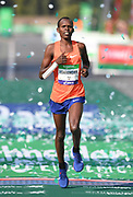 Paul Lonyangata (KEN) places third in 2:07:29 in the 43rd Paris Marathon in IAAF Gold Label road race in Paris, Sunday, April 14, 2019. (Jiro Mochizuki/Image of Sport)