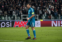 February 13, 2018 - Turin, Piedmont/Italy, Italy - Gianluigi Buffon (Juventus FC) during the Champions League match Juventus FC vs Tottenham Hotspurs FC. Final score was 2-2 in Juventus Stadium, Turin, Italy 13th february 2018  (Credit Image: © Alberto Gandolfo/Pacific Press via ZUMA Wire)