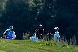 September 2, 2018 - Norton, Massachusetts, United States - Tiger Woods looks down the 15th fairway during the third round of the Dell Technologies Championship. (Credit Image: © Debby Wong/ZUMA Wire)
