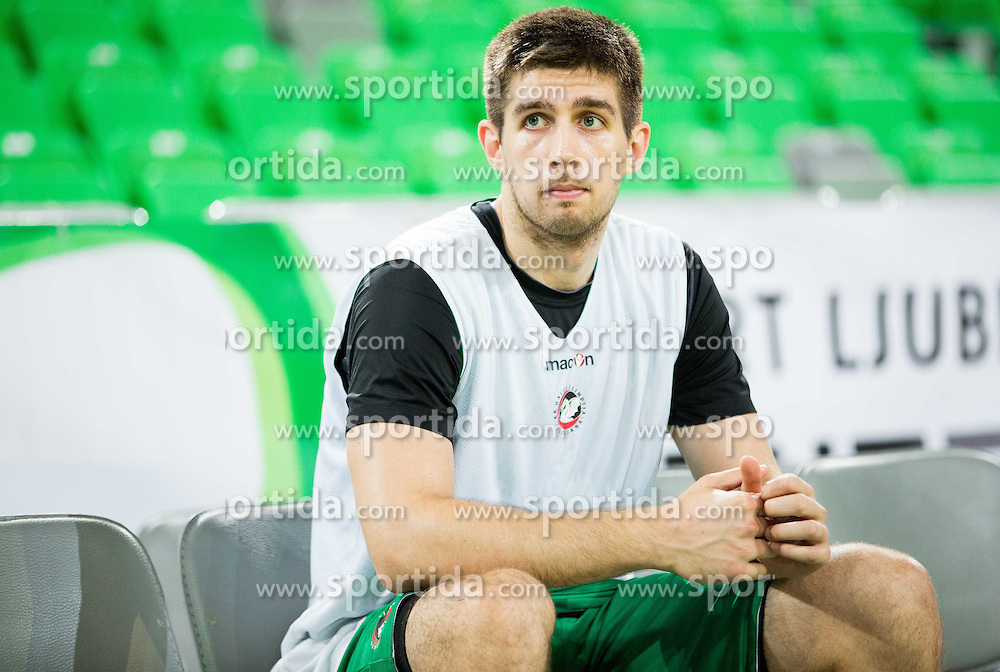 Halil Kanacevic #45 of KK Union Olimpija during Media day of basketball club KK Union Olimpija before new season 2014/15, on September 24, 2014 in Arena Stozice, Ljubljana, Slovenia. Photo by Vid Ponikvar / Sportida.com